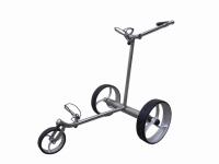 Design Golf Trolley «Silver Straight Remote»